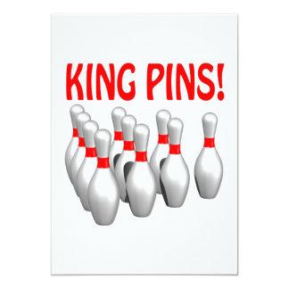 King Pins 13 Cm X 18 Cm Invitation Card