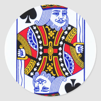 King Playing Card Classic Round Sticker