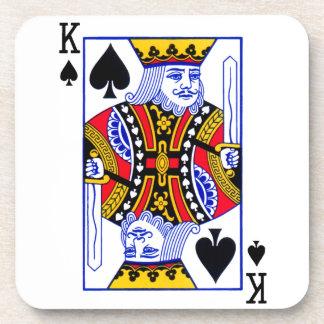 King Playing Card Coaster