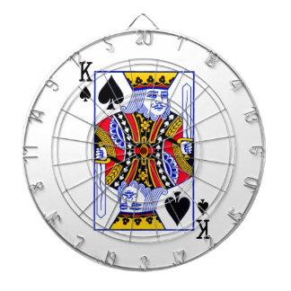 King Playing Card Dartboard