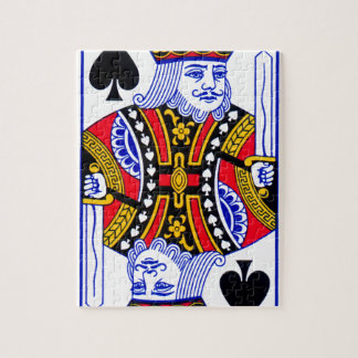 King Playing Card Jigsaw Puzzle