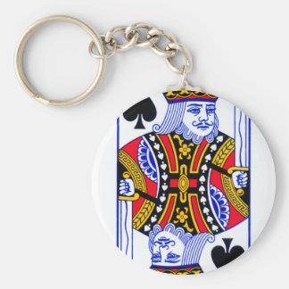 King Playing Card Key Ring