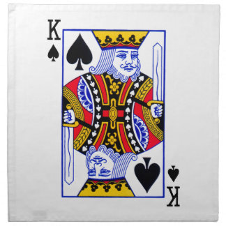 King Playing Card Napkin