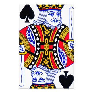 King Playing Card Personalised Stationery