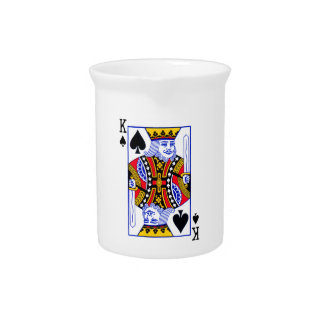 King Playing Card Pitcher