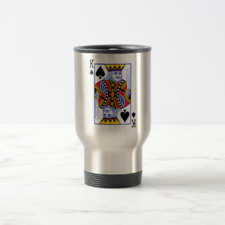 King Playing Card Travel Mug