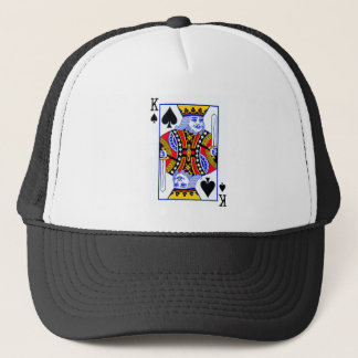 King Playing Card Trucker Hat