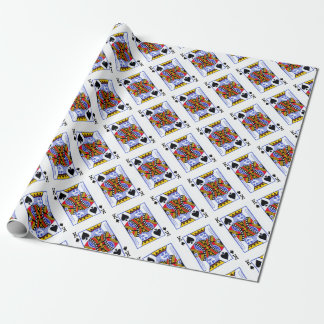 King Playing Card Wrapping Paper