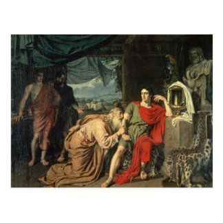 King Priam begging Achilles for return of Postcard