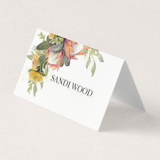 King Protea Bouquet Wedding place card