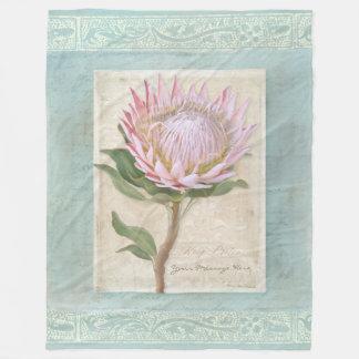 King Protea Floral Elegant Modern Vintage Chic Fleece Blanket