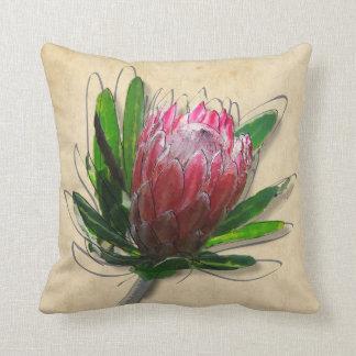 King Protea Flower Pillow. Cushion
