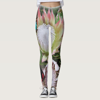 King Protea from South Africa Leggings