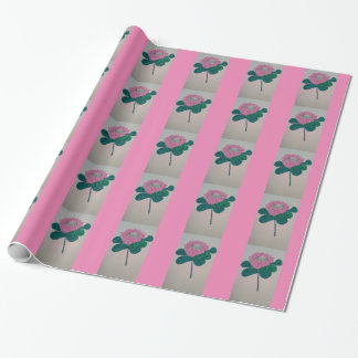 King protea in pink and white. wrapping paper
