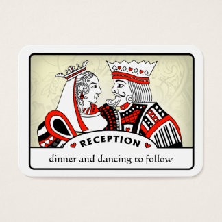 King & Queen - 3.5 x 2.5 Wedding Reception Cards