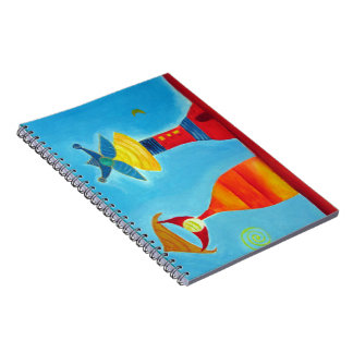 King Queen Abstract Art Whimsical  Notebook