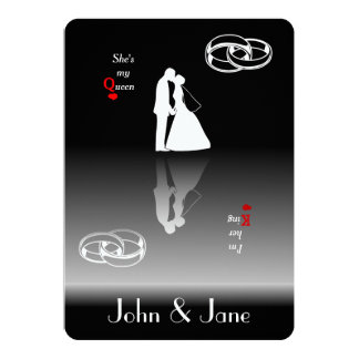 King & Queen | HIS Wedding Invitation Cards