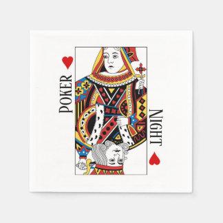 King & Queen of Hearts Las Vegas Wedding Disposable Serviettes