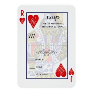 King Queen Playing Card RSVP 9 Cm X 13 Cm Invitation Card