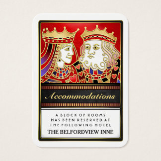 King & Queen Red Wedding Accommodations 2.5 x 3.5