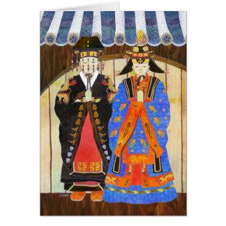 King & Queen's Wedding Card