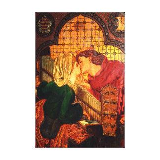 King Renes Honeymoon Vintage Fine Art Canvas Print