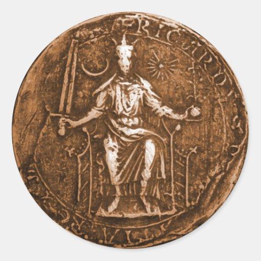 King Richard I, The Lion Heart Round Sticker
