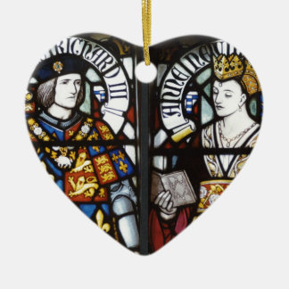 King Richard III and Queen Anne of England Ceramic Heart Decoration