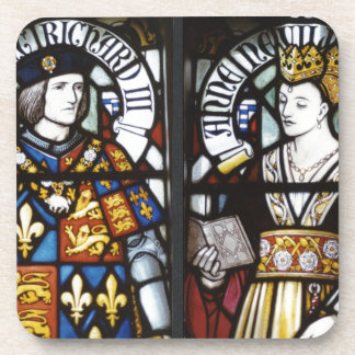 King Richard III and Queen Anne of England Drink Coaster