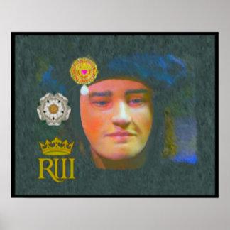 King Richard III portrait Poster