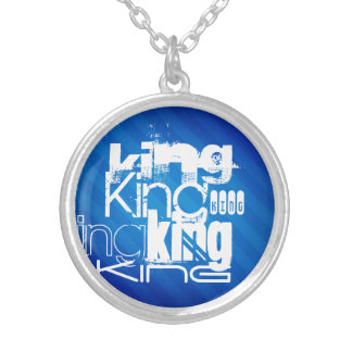 King; Royal Blue Stripes Necklaces