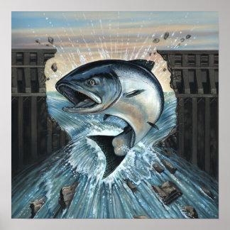 King Salmon Breaks Dam Poster