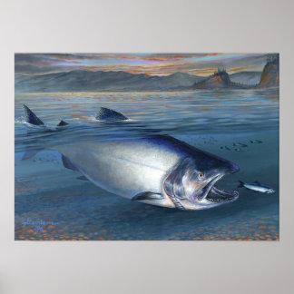 King Salmon early morning bite Poster