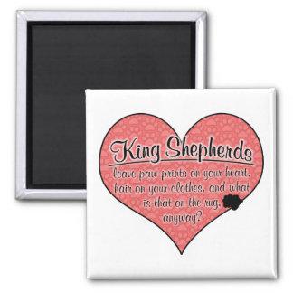 King Shepherd Paw Prints Dog Humor Magnets