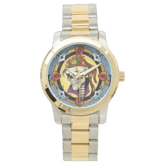 King Skull Pirate with Hearts by Al Rio Watches