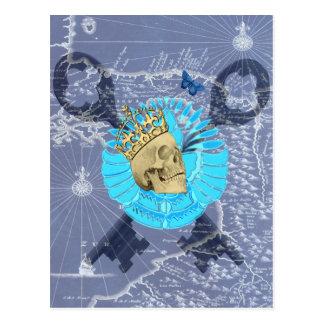 King Skull Postcard