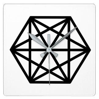 King (+) / Square Wall Clock