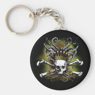 King Squid Skull Key Ring