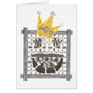 King Sudoku Greeting Card