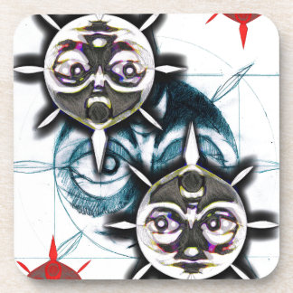 king sun products of my illustration beverage coasters