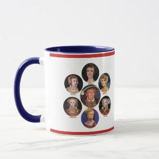 """King Trump and his Merry """"Wives"""" Mug"""