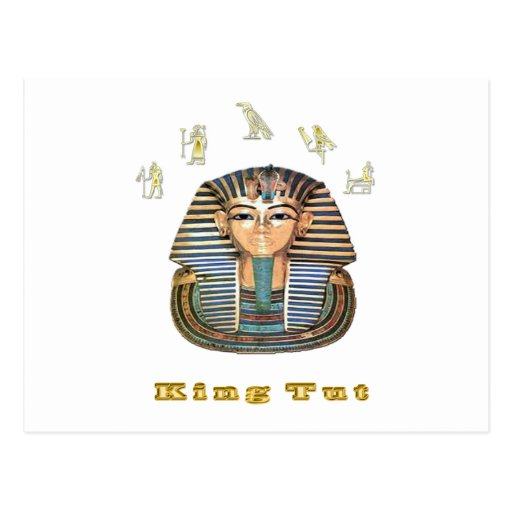 King tut art  products post card