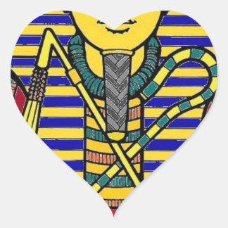 king tut heart sticker