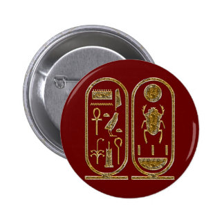 King Tut Hieroglyphics Pin