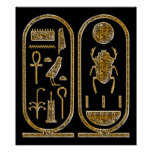 King Tut  Hieroglyphics Poster Print