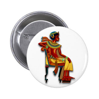 King Tut on his Throne Pins