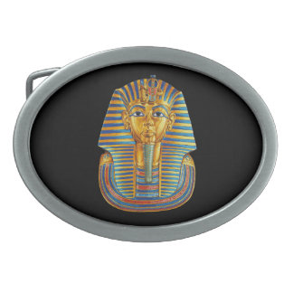 King Tut Oval Belt Buckle