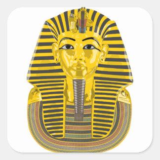 King Tut Square Sticker