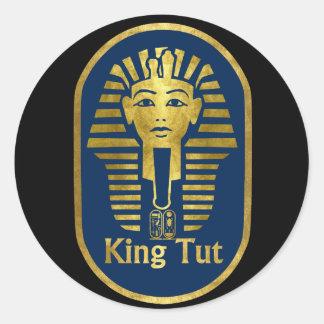 King Tut Round Stickers