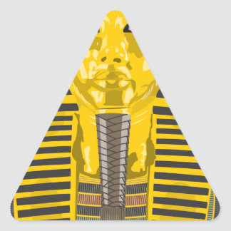 King Tut Triangle Sticker